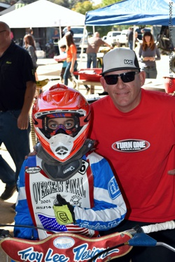 Logan and dad Bobby Hedden