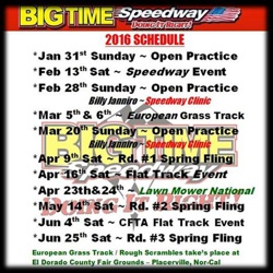 2016 Big Time Schedule