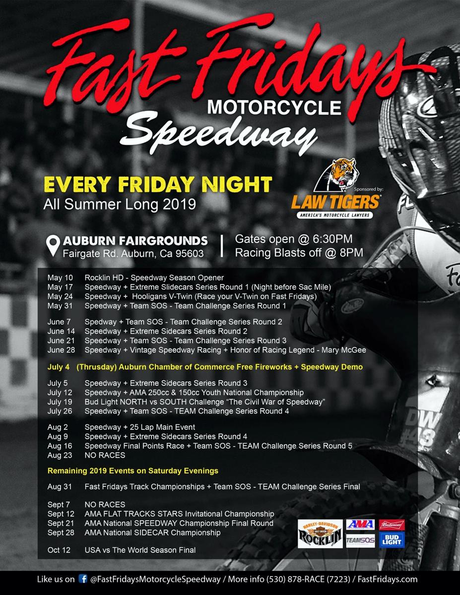 Fast Fridays Speedway - Auburn, CA - SpeedwayBikes Com